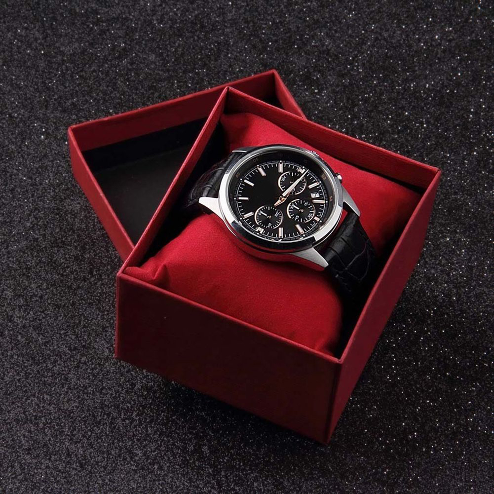 New Arrival Red Watch Box Cardboard Present Gift Box Rectangle High-Grade Quartz Watches Packing Box Jewelry Box Christmas Gift
