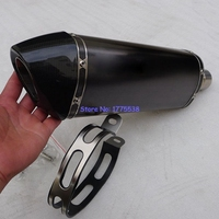 Carbon Fiber ID 51mm 54mm 57mm 61mm 63mm 65mm Customized Motorcycle Motorbike Exhaust Pipe Muffler Escape
