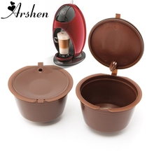 Arshen 1Pc Professional Refillable Coffee Filter 200 Times Reusable 12g Sweet Taste Capsule Plastic PP Basket Dolce Gusto