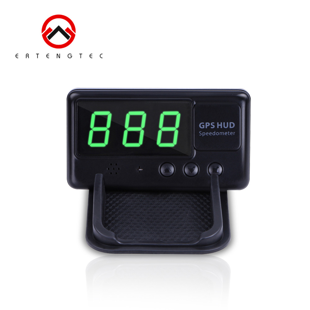 Vehicle GPS Speedometer C60 Head Up Realtime Display MPH KM/h On Windshield Auto Adjust Bright Overspeed Alarm Easy To Set Up
