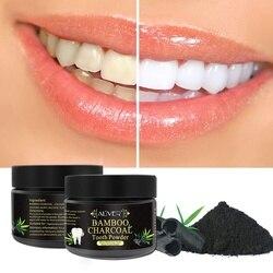 Zähne Bleaching Pulver Natürliche Aktivkohle Aufhellung Zahn Zähne Pulver