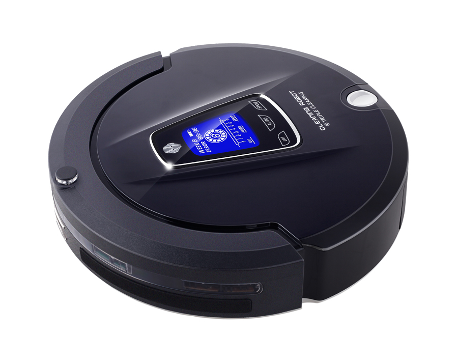 Free Shipping 4 in 1 Multifunction (Sweep,Vacuum,Mop,Sterilize) Cleaning Robot Vacuum Cleaner With Schedule, LCD Touch
