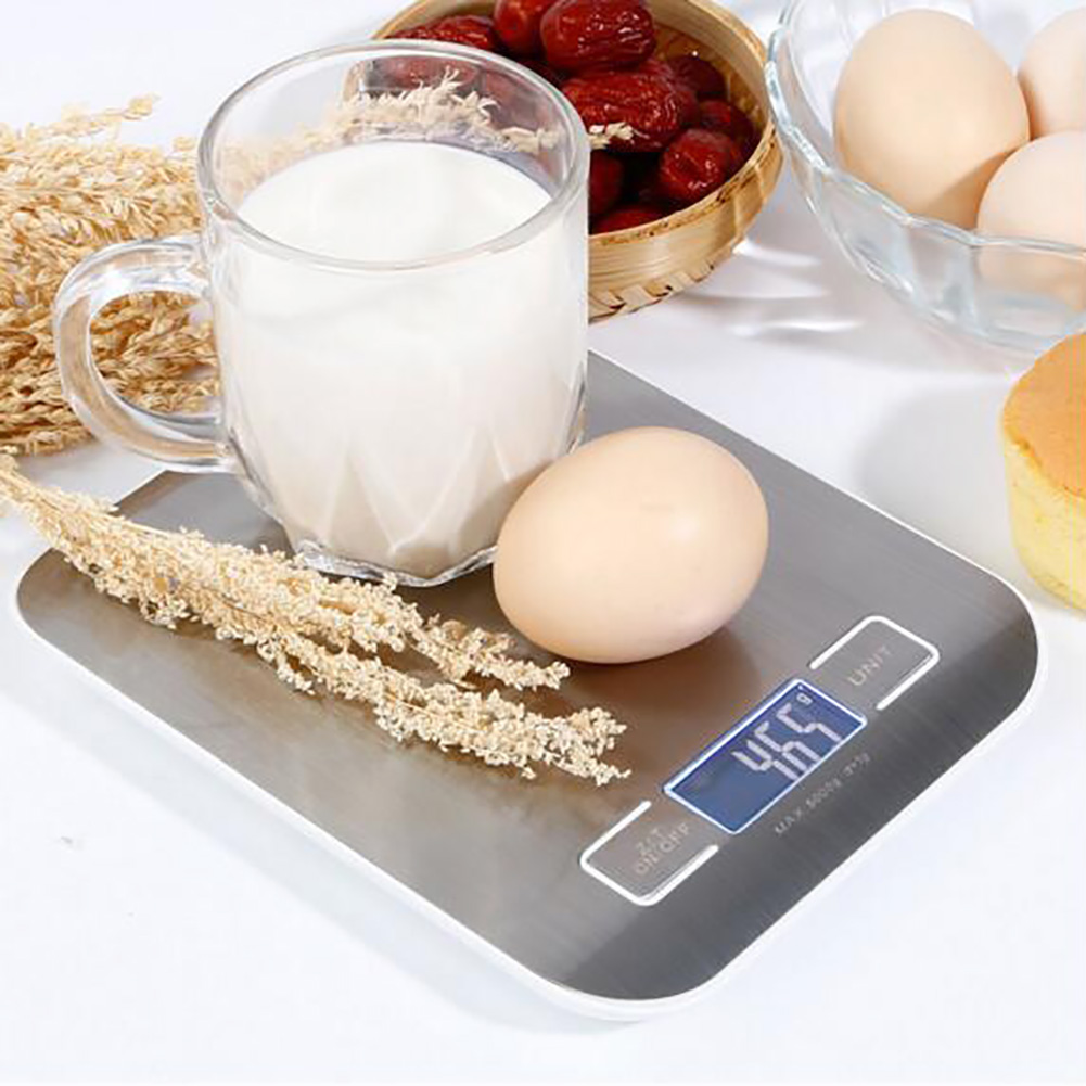 2020 Multi-function 5kg Food Scales Digital High Quality Stainless Steel Material LCD Electronic Cooking Kitchen Weighing Scale