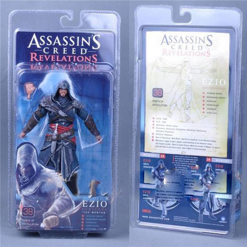 1pc/lot NECA Assassin Creed Ezio PVC Action Figures Dolls Collection Model Figure Toys For Kids Box Packaged 18cm