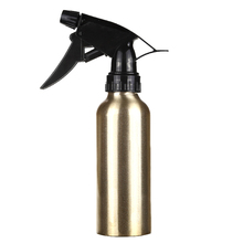 200ml Gold Aluminum Water Spray Empty Bottle Hair Salon Pro Hairdressing Sprayer Atomiser Refillable Bottle Barber Styling Tools