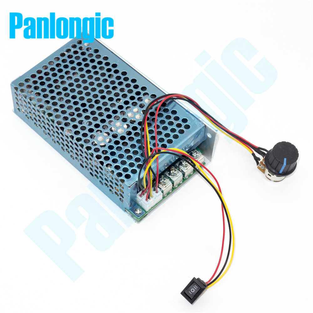 10-50V 100A 5000W regulator prędkości obrotowej silnika prądu stałego PWM 12V 24V 36V 48V miękki start przełącznik do przodu i do tyłu