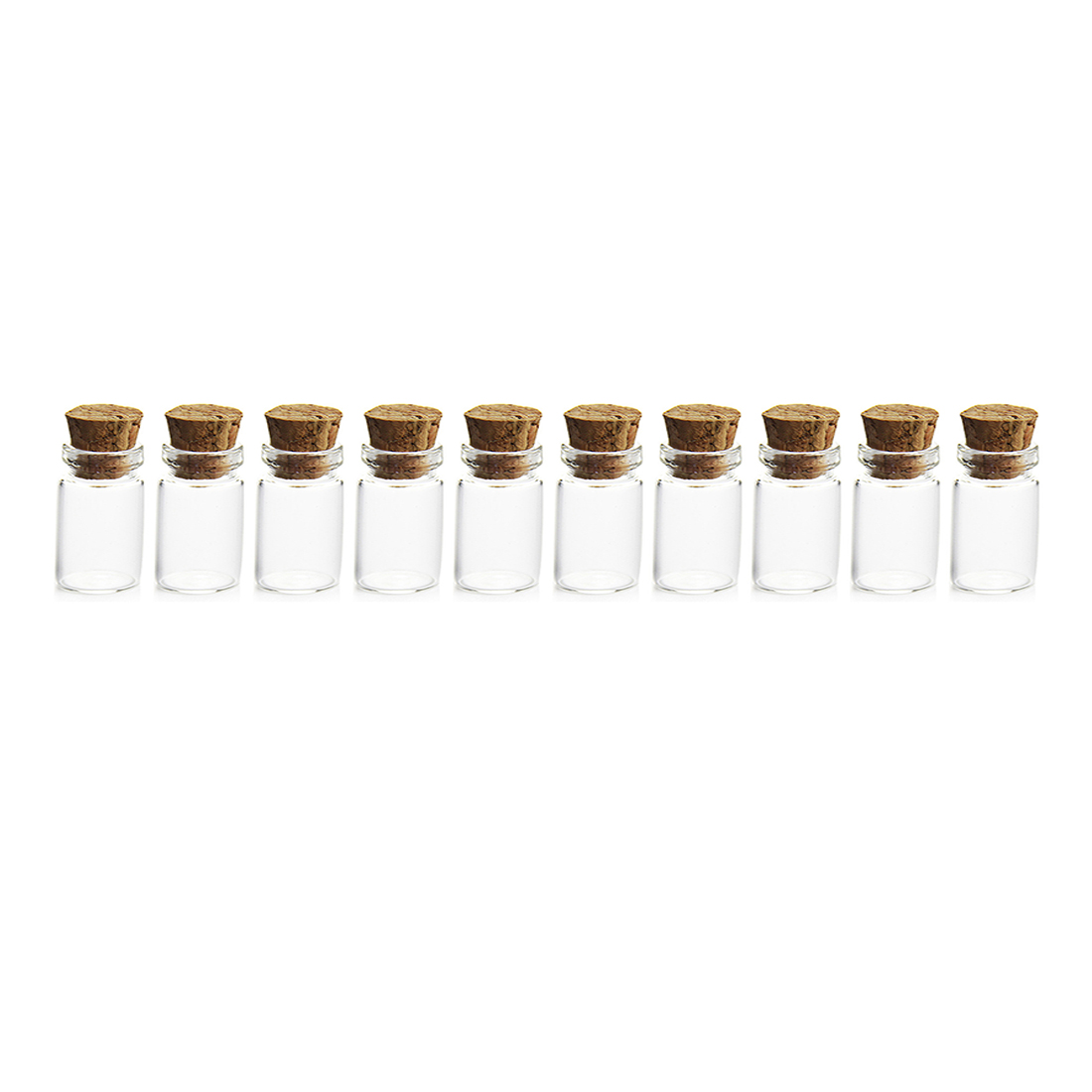 Jars Craft-Decoration Glass-Bottles Mini 1ML With Cork-Stoppers For DIY Sample Wish Empty
