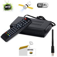 DVB-S2 HD Digital Por Satélite FTA + Internet IPTV Combo TV Decodificador receptor Set Top BOX + USB WIFI Dongle Soporte IKS CCCAM VU