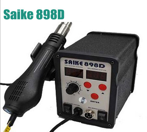 SAIKE 898D 2 in 1 Soldering Station Hot Air Gun+welding Iron 220V 110V SAIKE898D hot air gun+solder iron  dhl free saike 852d iron solder soldering hot air gun 2 in 1 rework station 220v 110v many gifts