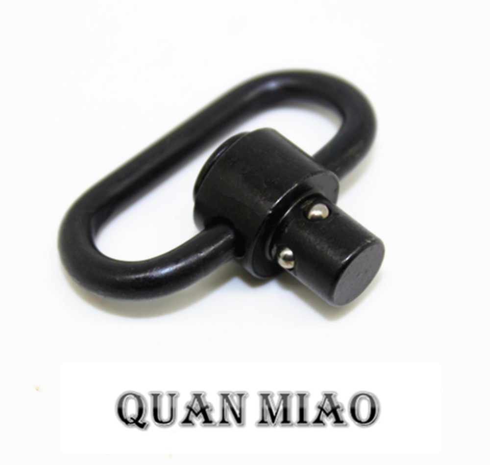 2PCS Push Button Quick Release Detachable Sling Swivel Mount Tactical Sling QD Loop Adapter For Gun Rifle Shotgun hunting in Hunting Gun Accessories from Sports Entertainment