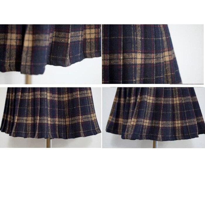 HTB1BFL0NFXXXXcWapXXq6xXFXXXe - FREE SHIPPING Pleated skirt plaid bodice short skirt JKP093