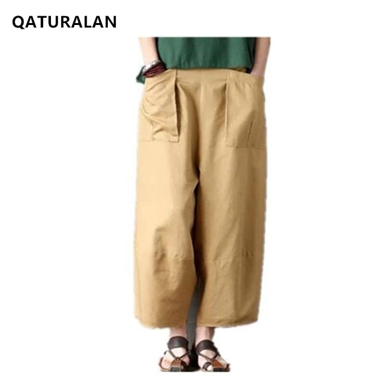 Autumn spring summer fashion women new wide leg   pants   tenths   pants   large plus size loose casual   pants   Pantalones 2017 New   Capris
