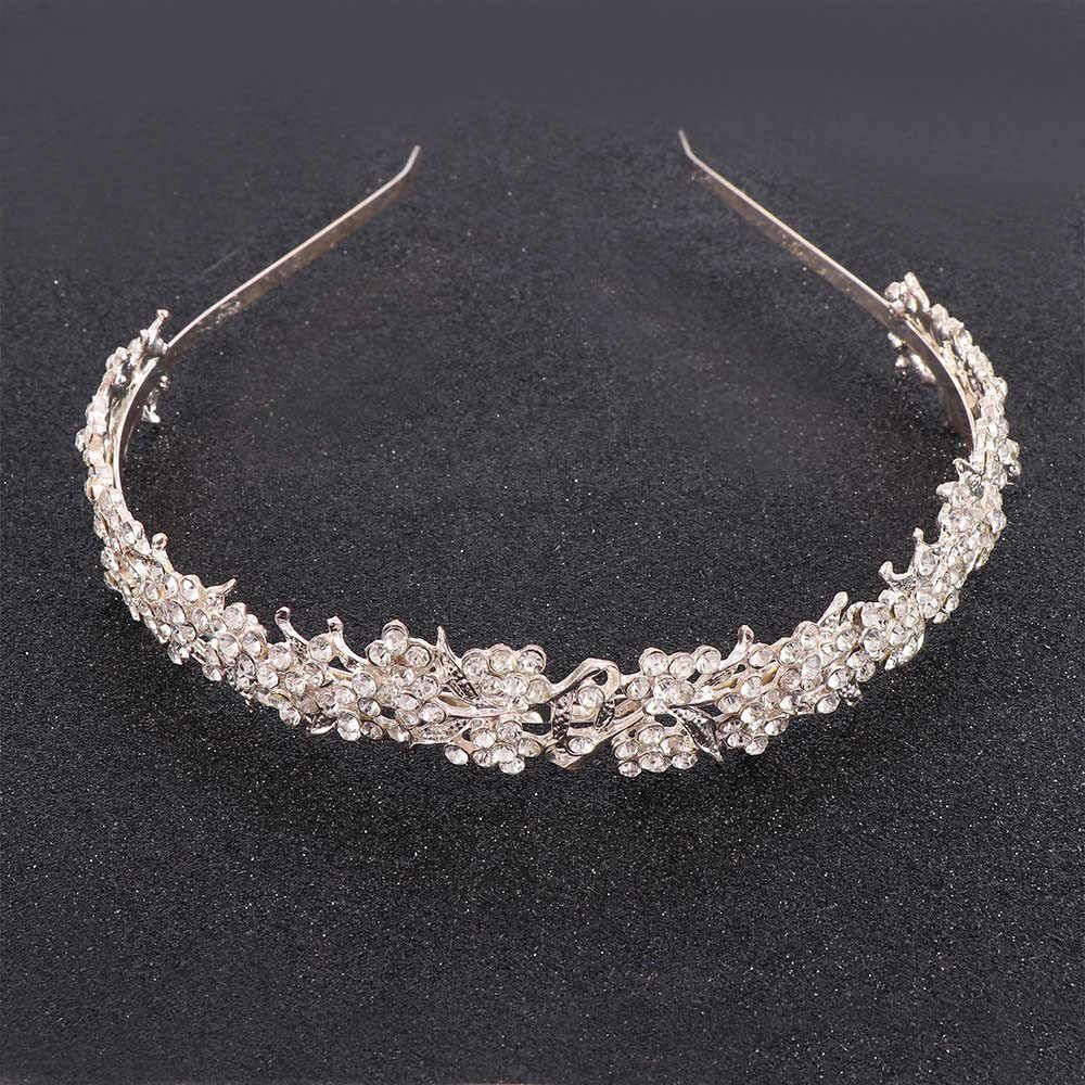 Twinkling Full Crystal Rhinestone Flower Leaf Girl's Tiara Wedding Bridal Flower Hairbands Headband Jewelry Hair Accessories