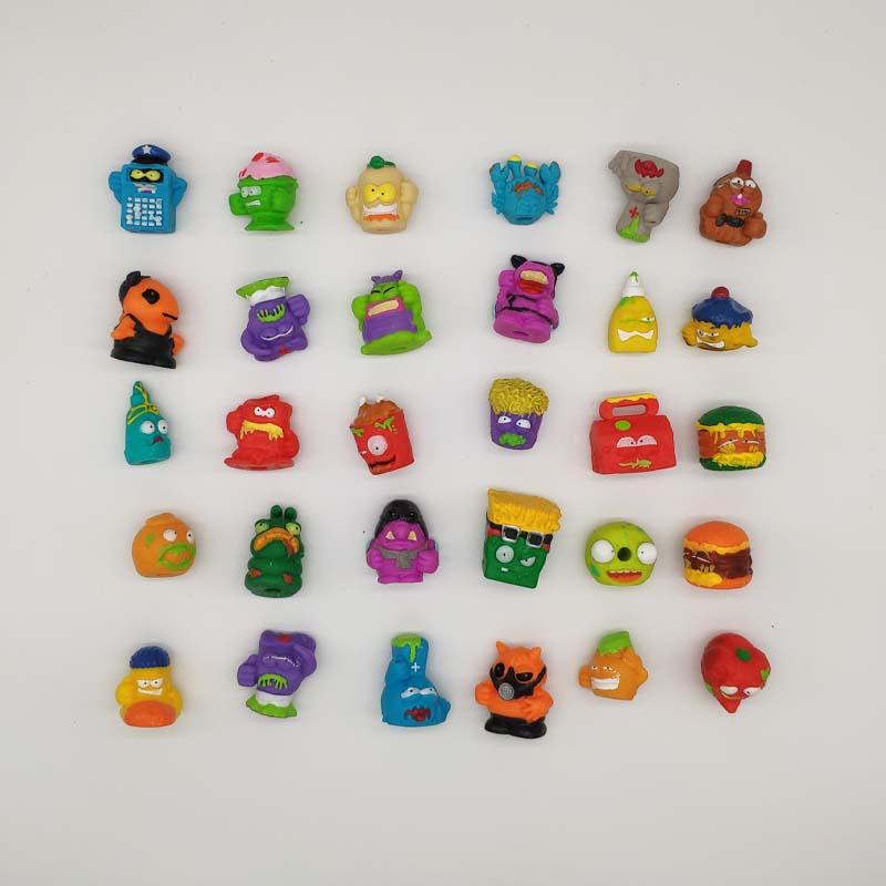 10 Pcs  Soft Capsule Dolls The Grossery Gang Mini Action Toy Figures Kids