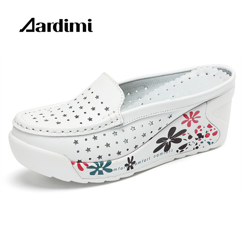 New arrival genuine leather summer shoes women creepers casual breathable flat platform shoes woman summer casual shoes woman women creepers shoes 2015 summer breathable white gauze hollow platform shoes women fashion sandals x525 50