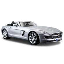 Maisto 1 24 Mercedes Benz SLS AMG ROADSTER Silver Diecast Model Car Toy New In Box