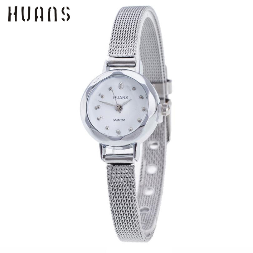 где купить Quartz Watch Women Small Round Dial Stainless Steel Woven Mesh Band Simple Casual Ladies Wrist Watches Relogio Feminino A8302 по лучшей цене