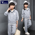 2016 children hot autumn winter sport suit Girls 7 two sets of digital printing in children 5-13 years old