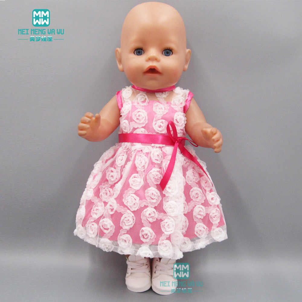 Rose flowers dress Fit For 43cm Baby Born Zapf Doll and 18 inch girl doll  clothes 845408b7ce3c