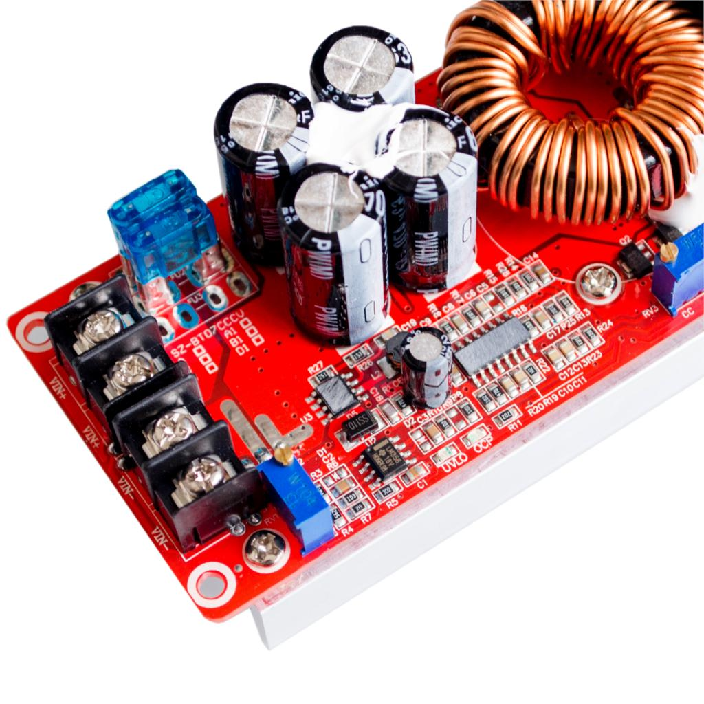 Image 4 - 5PCS/LOT 1200W 20A DC Converter Boost Step up Power Supply Module IN 8 60V OUT 12 83V-in Integrated Circuits from Electronic Components & Supplies