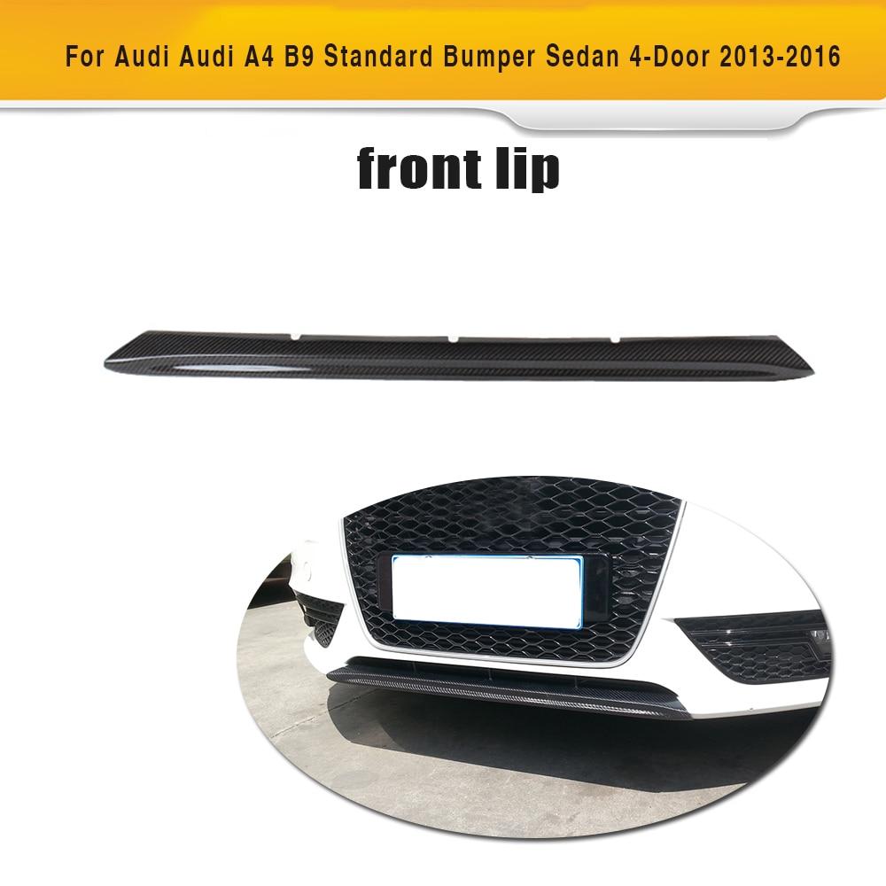 Carbon Fiber Front Bumper Chin Lip Spoiler for Audi A4 B9 Standard Bumper Sedan 4 Door 2013 2016