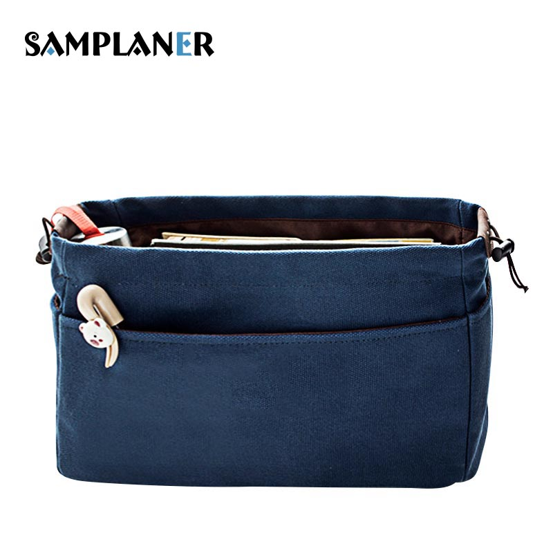 Samplaner Pillow Canvas Cosmetic Bags For Women Neceser Storage Bag String Makeup Cosmetics Case Female Wash Travel Toiletry Bag