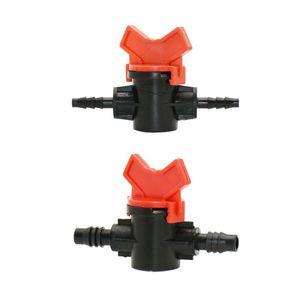 "Drip irrigation 1/4"" Garden tap 3/8"" Water valve 4/7 garden hose irrigation valve 8/11 2-way waterstop Connector fittings 1 pcs(China)"