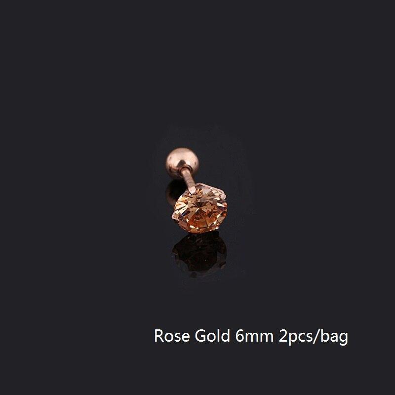 6mm rose gold