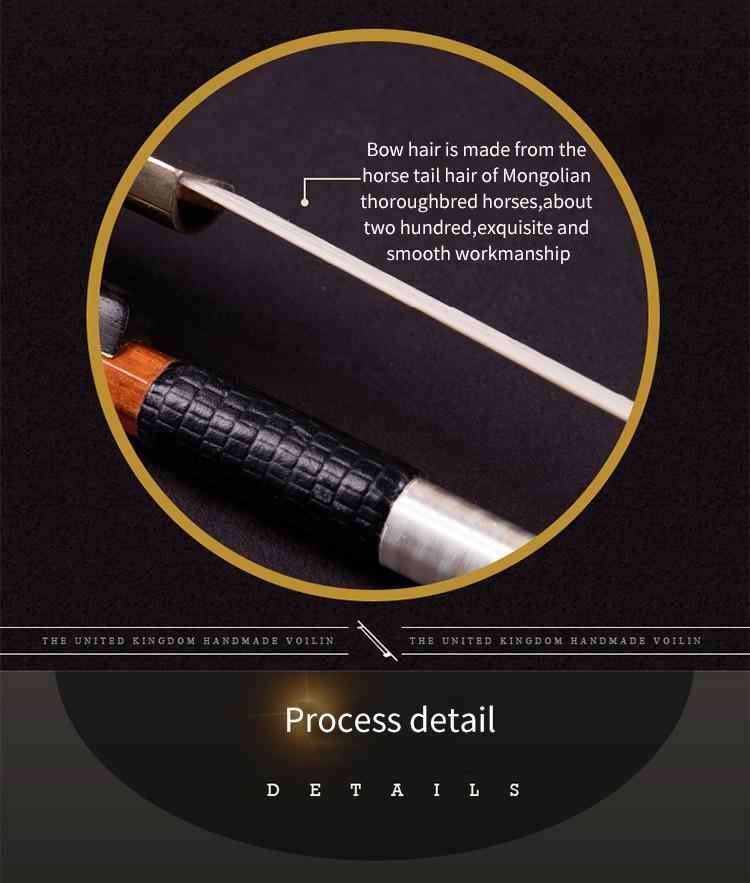 Коллекция мастера скрипки Лук выбран дерево лук стерлингового серебра интимные аксессуары банты из бутика 4/4