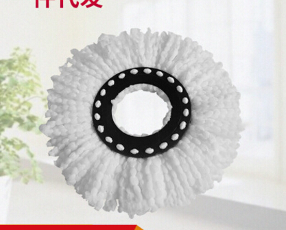 2pcs Replacement Heads Easy Cleaning Mopping Wring Spin Mop Refill