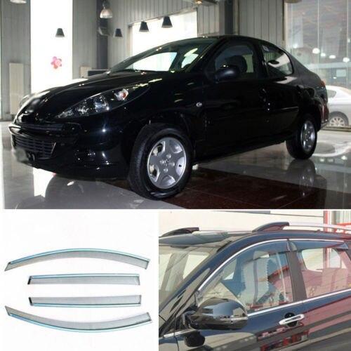 4 шт. Новый Копченый Очистить Окно Vent Shade Visor Обтекатели Peugeot 207