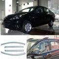 4 pcs Nova Smoked Limpar Janela de Ventilação Da Máscara Viseira Defletores de Vento Para Peugeot 207