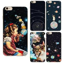 Airship Astronaut Star Universe Series Fashion Soft TPU Phone Case Coque For Apple Iphone 5 5s Back Cover High Quality Capa