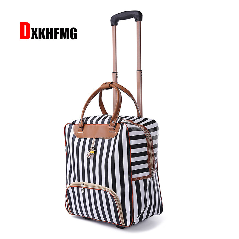 New Hot Fashion Women Trolley Luggage Rolling Suitcase Brand Designer  Duffle Case Travel Bag on Wheels b36abe165d7cf