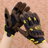 Мужские и женские тактические перчатки на открытом воздухе Нескользящие износостойкие перчатки на полный палец Зимние перчатки для верхов...