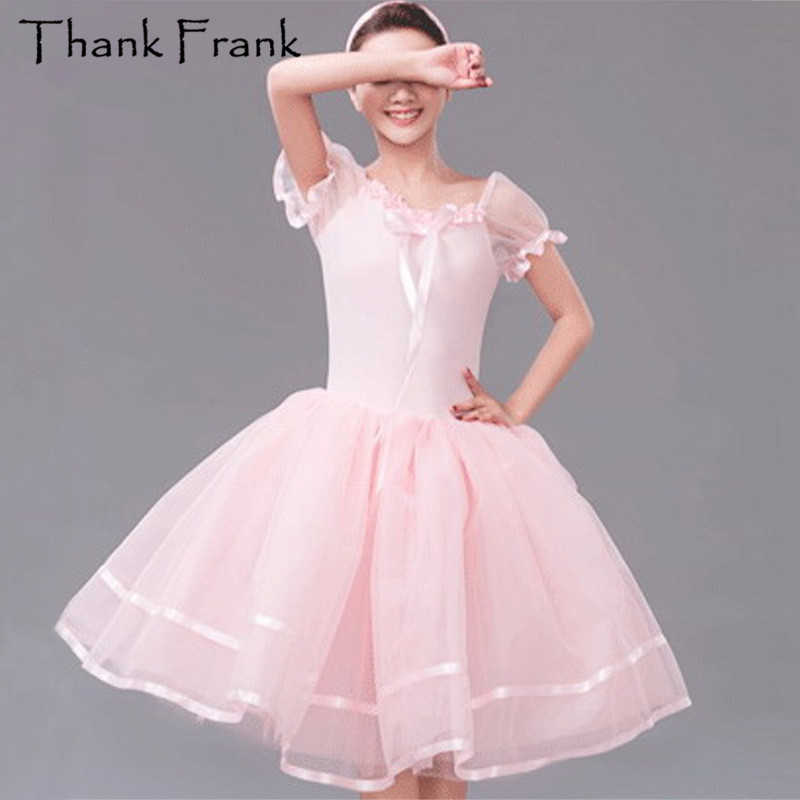 Pink Romantic Ballet Tutu Dress Kids Adult Sweet Performance Dance Traje C22