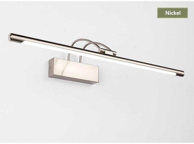 Banheiro led espelho luz quarto lâmpada de