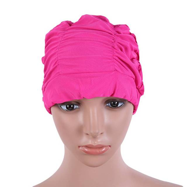4beb3762312 Waterproof Lycra Adult Baby Children Swimming Swim Head Cap Elastic  Compression New Arrive