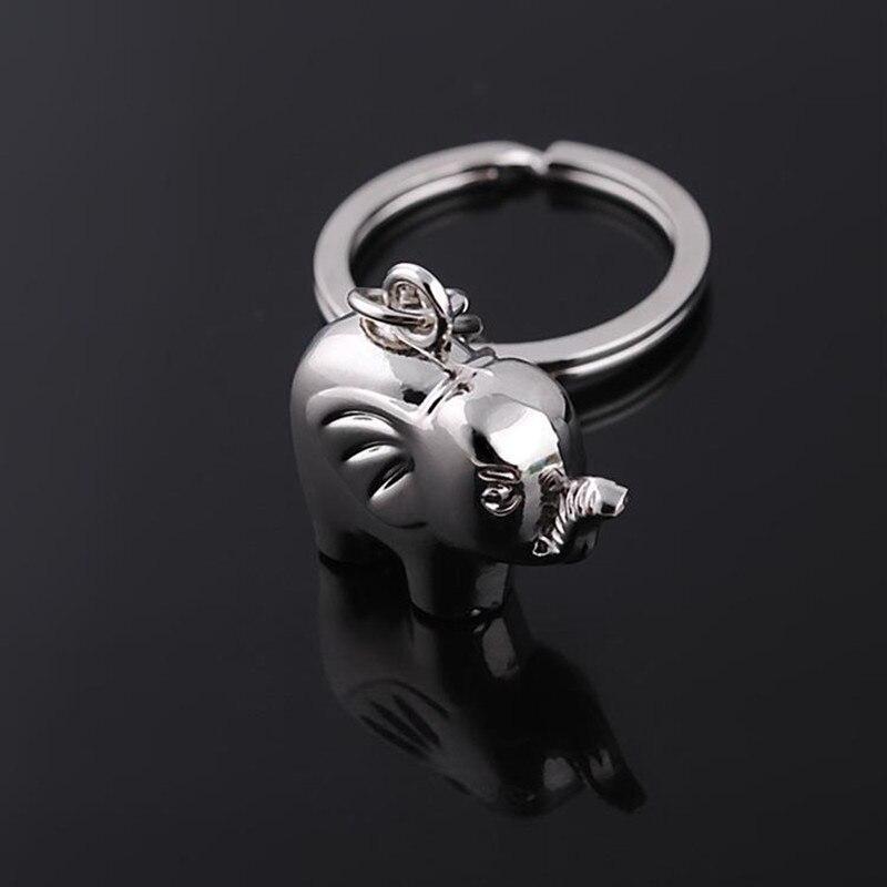 Metal elephant keychain alloy animal key chain for girl key rings women handbag charm accessory elephant Key chain