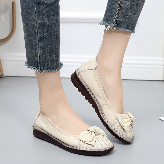 Genuine Leather Women's Spring Loafers