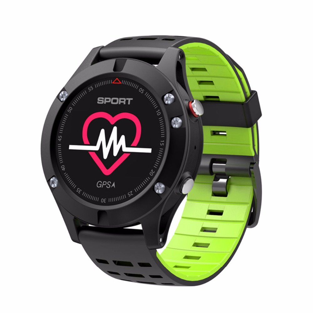 Wrist Smart Watch for Sports Watch GPS BT Heart Rate Monitor <font><b>No.1</b></font> <font><b>F5</b></font> Smart watch Altimeter Barometer Thermometer Bluetooth 4.2 image