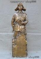 Свадебные украшения Старый Китай людей Освободительной армии модель бронза Лэй Фэн 1940 1962 Скульптура