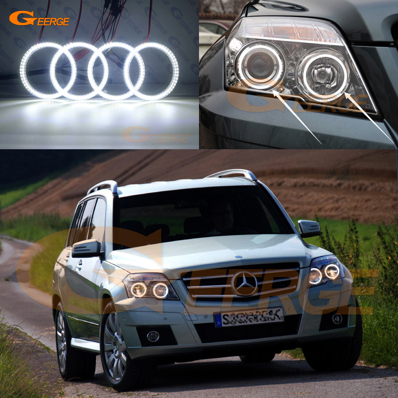For MERCEDES BENZ GLK CLASS X204 280 300 320 350 2010 2011 2012 Excellent Ultra bright illumination smd led Angel Eyes kit DRL