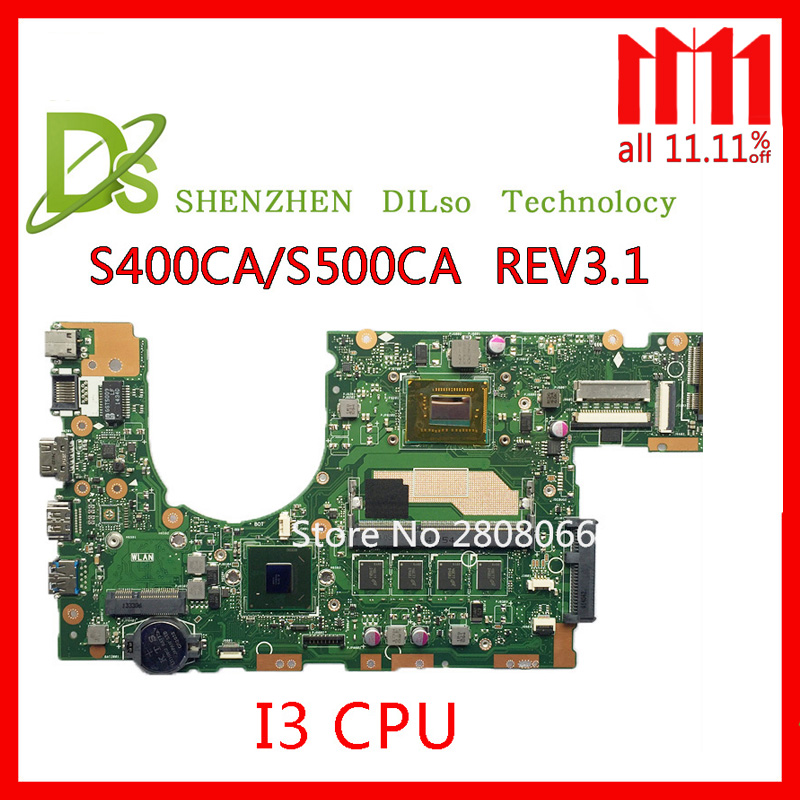 KEFU S400CA For ASUS S400CA S500CA Laptop motherboard S400CA mainboard i3 CPU Integrated Test work 100% for asus s400 s400ca s500ca laptop motherboard s400ca mainboard rev2 1 i3 3217u integrated 100