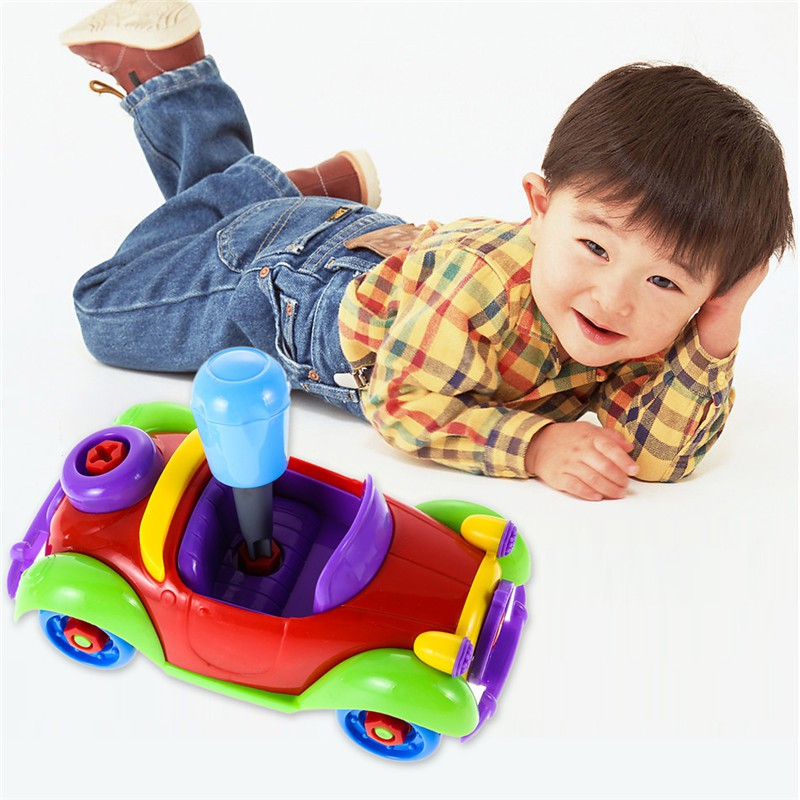 2018 New Style Kids Funny Baby Toy Car Puzzle Toy Assembly Early Children Educational Fashion Toys X6