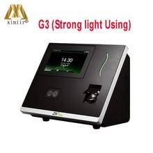 Новые ZK продукты G3plus распознавание лица посещаемость времени с считывателем отпечатков пальцев работает в сильном освещении