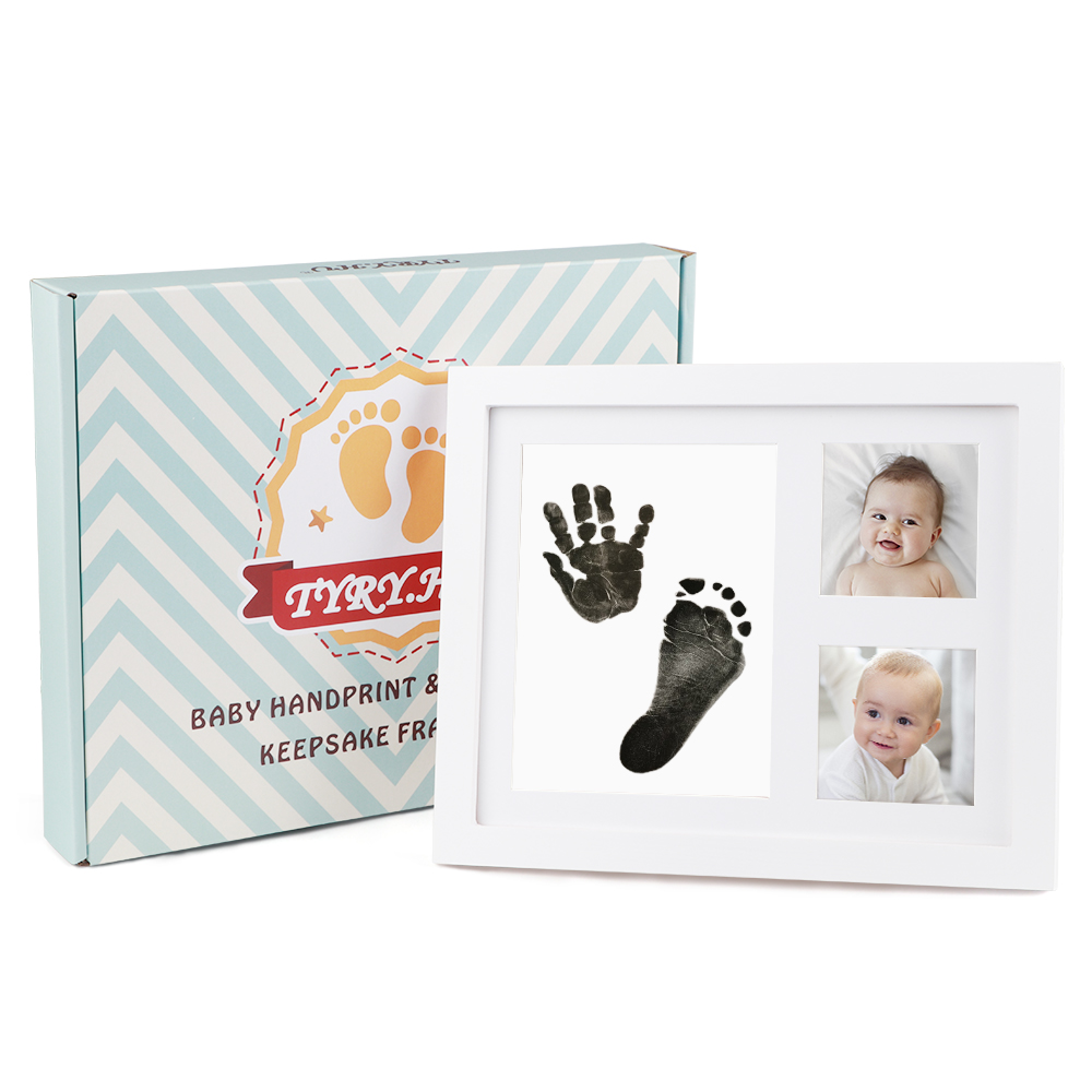 Baby Footprint Stamp Pad Ink Baby Frame DIY Handprint Kit Baby Shower Gift Non-Toxic Handprint Footprint Souvenirs