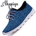 2017 New design men shoes summer lightweight breathable air mesh casual shoes jogging flat shoes zapatillas hombre