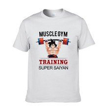 Anime dragon ball z son goku super saiyan t shirts insaiyan muscle gym t-shirt bodybuilding tshirts summer tops tee men clothing