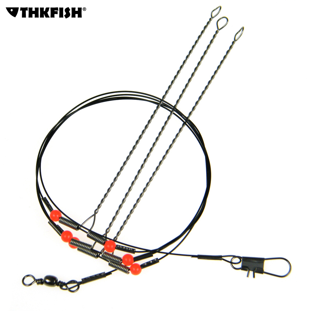 10pcs lot swivel string fishing hook anti winding for Fishing wire leader